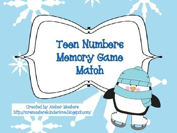 Teen Number Memory Match