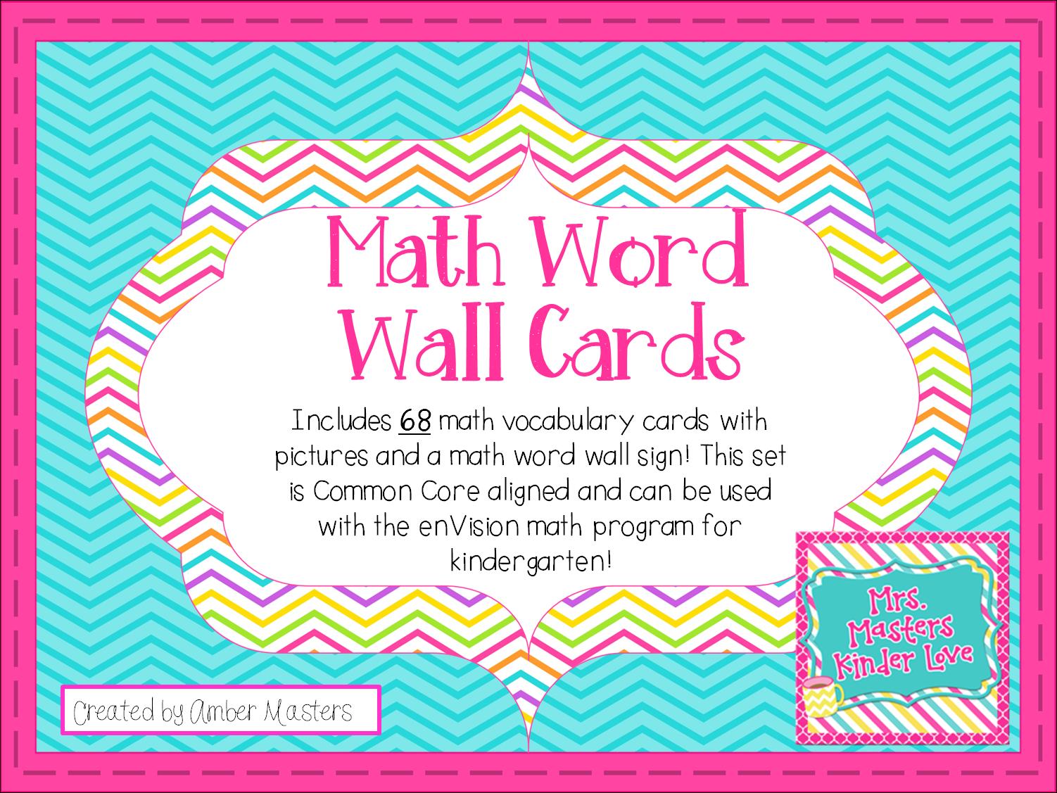 http://www.teacherspayteachers.com/Product/Math-Word-Wall-Common-Core-Aligned-1288475