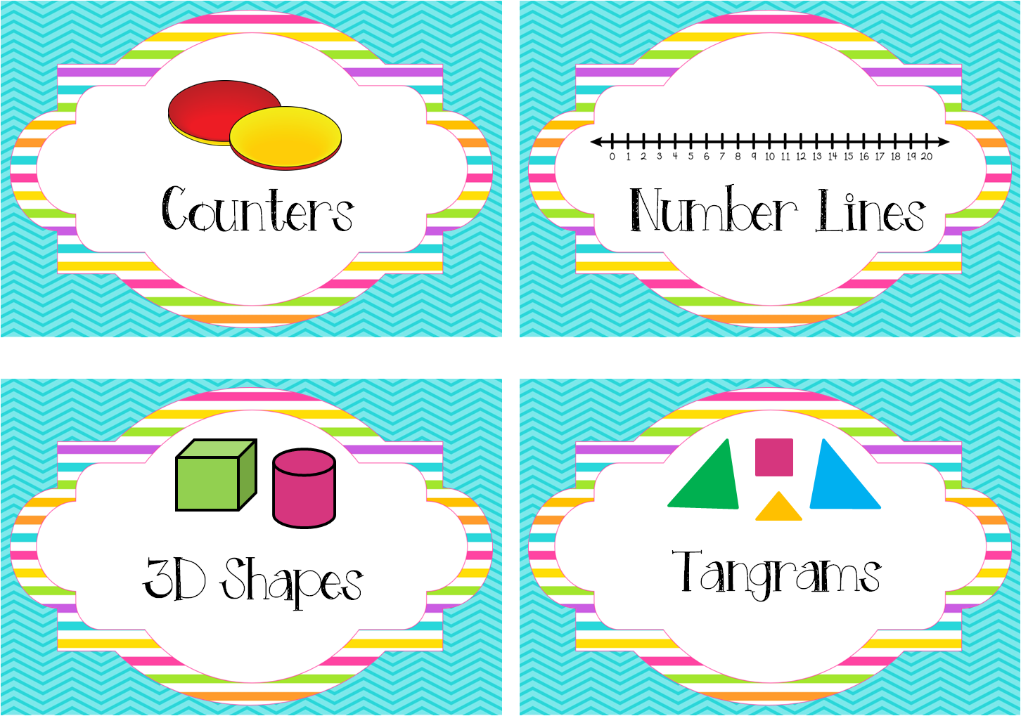 http://www.teacherspayteachers.com/Product/Bright-Chevron-Math-Labels-Manipulatives-bins-stations-1267733