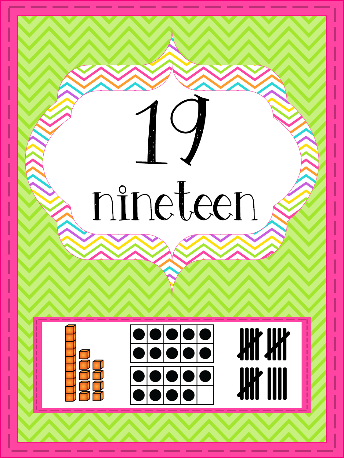 http://www.teacherspayteachers.com/Product/Bright-Chevron-Number-Posters-0-20-1270778