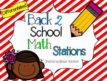 http://www.teacherspayteachers.com/Product/Differentiated-Back-to-School-Math-Stations-1373205